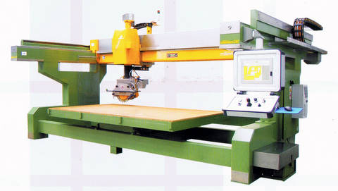 Stone and Granite Cutting CNC Monoblock Bridge Saw